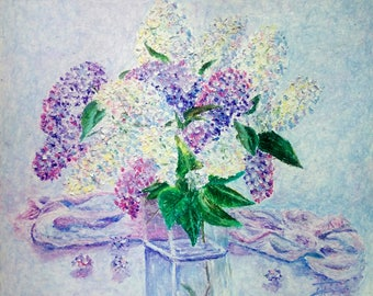 Lilac on the Glass Table