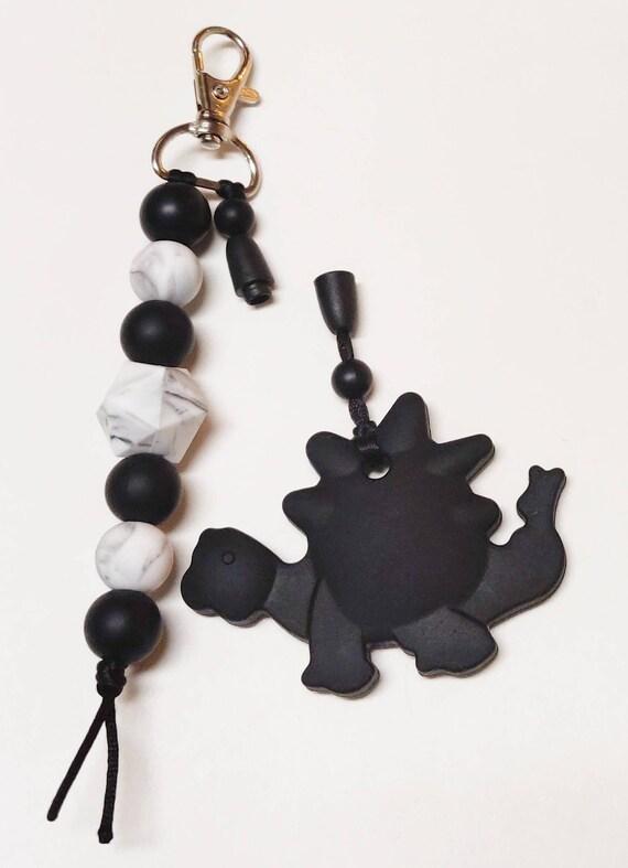 10 silicone beads BEIGE 17mm ICOSAHEDRON BPA free teething baby necklace lanyard