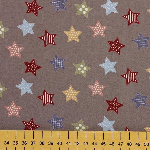 Tissu liberté Silhouette Floral 100/% coton Tissu FQ Craft Quilt Patch Gris