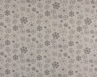 One Metre of Snowflake Soft Furnishing Fabric in White