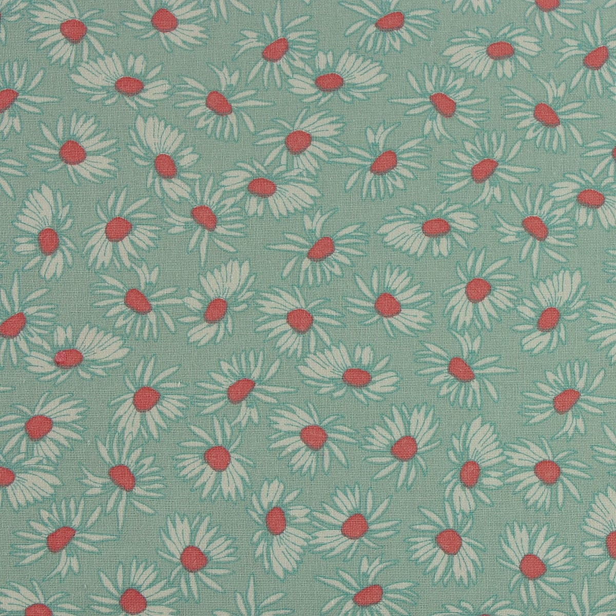 Craft Material Metre Mint Green Fern Floral Print Fabric 100/% Cotton Fabric