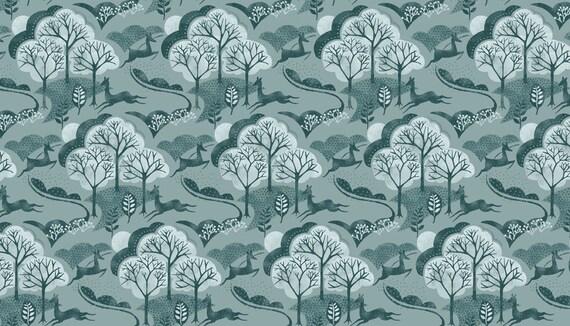 Half or Whole Metre Makower 'Grove' Collection 100/% Cotton Fat Quarter