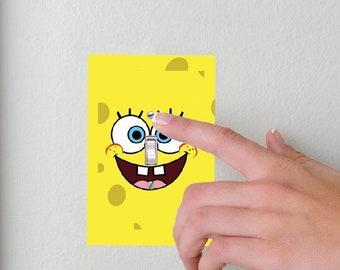 Sponge Bob- Lightswitch Cover- Sponge bob square pants Room Decor