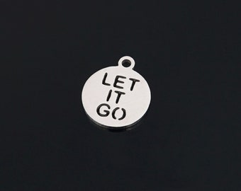 Let it go charm | Etsy