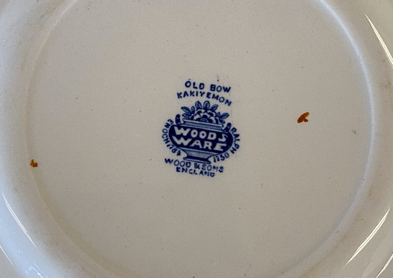 Old Bow Kakiyemon Woods Ware Plate