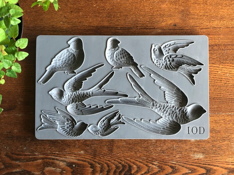 IOD Birdsong 6\u00d710 Decor Mould