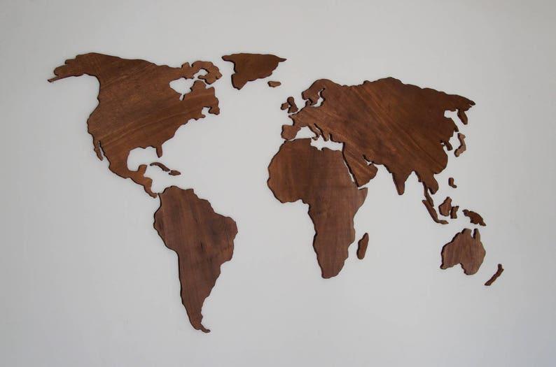 Wooden World Map Wall Art Abstract Art 3d Wall Art Wall Etsy