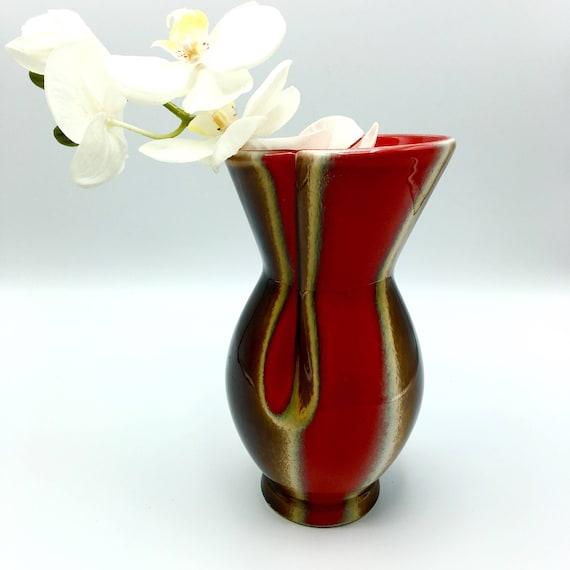 Vallauris Ceramic Designer Vase Glazed Porcelain Vase Flower Etsy
