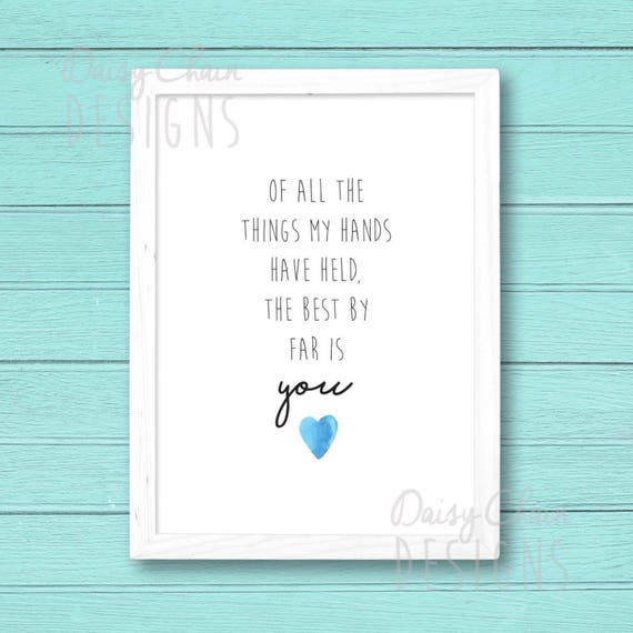 Newborn print - New Baby gift - Personalised quote - A4 print - Customised  - Nursery decor - New parents - Christening - Naming day