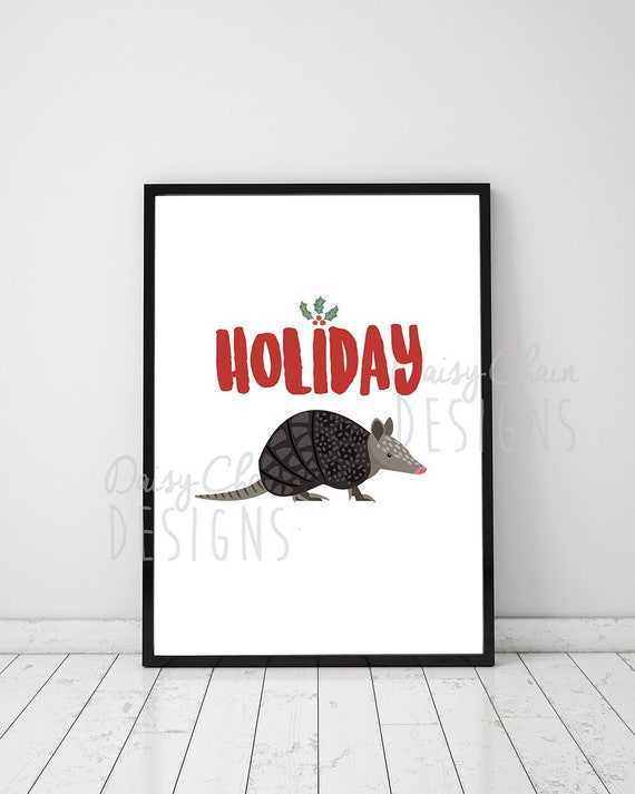 Christmas Armadillo Friends.Holiday Armadillo Friends Tv Show A4 Print Tv Quotes Happy Hanukkah Festive Christmas Gift Home Decor Modern