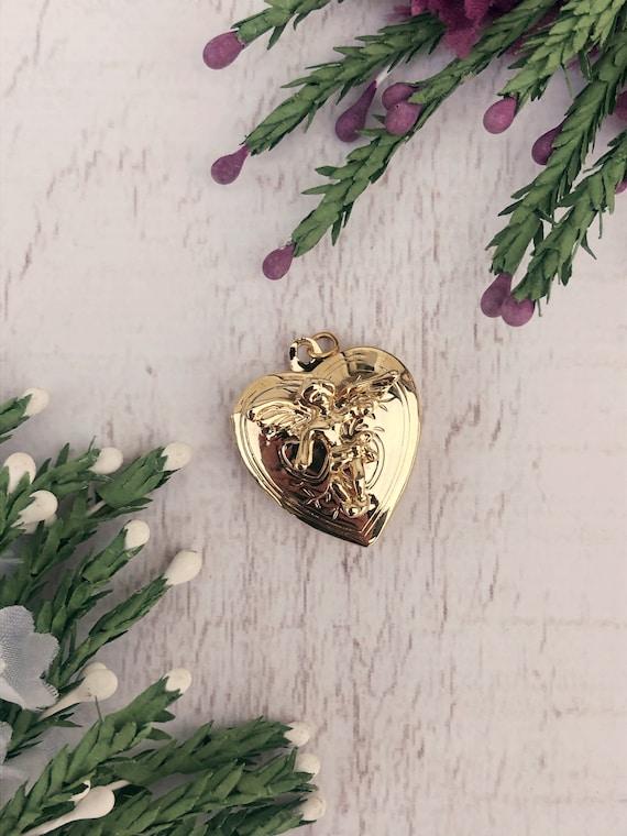 Vintage Gold Angel Locket