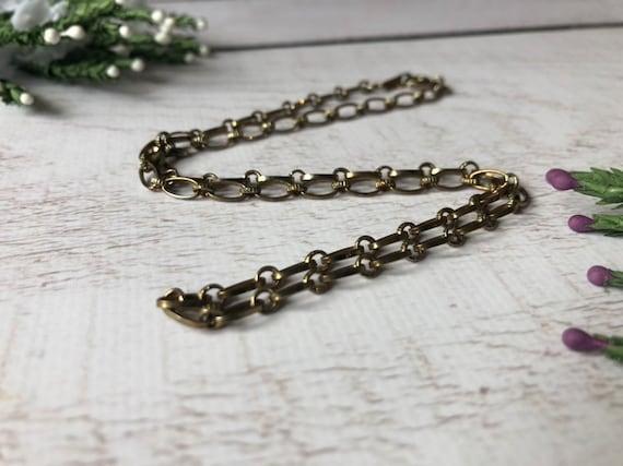 Elegant Link Chain, Ladies Vintage Chain.