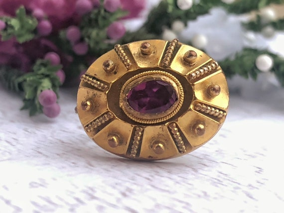 Antique Etruscan Revival Brooch for Repairs.