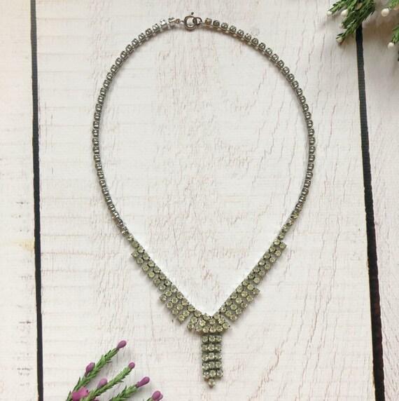 Vintage Paste Necklace.