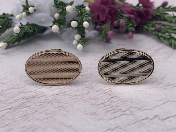 Vintage Textured Oval Cufflinks.