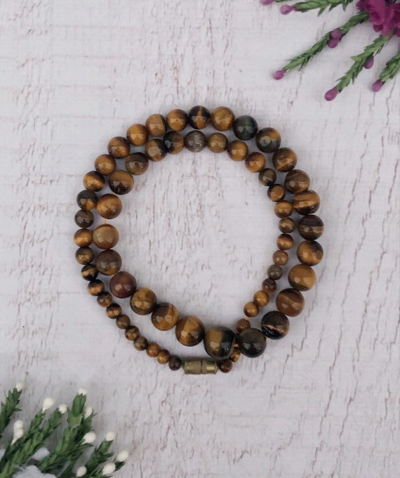 Vintage Tiger's Eye Necklace. Tiger Eye Jewellery.