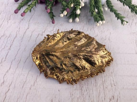 Handmade Gold Leaf Brooch.