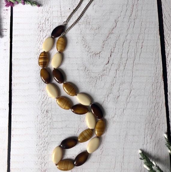 Vintage Scottish banded agate necklace.