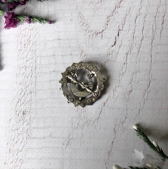 Antique Silver Suffragette Brooch.
