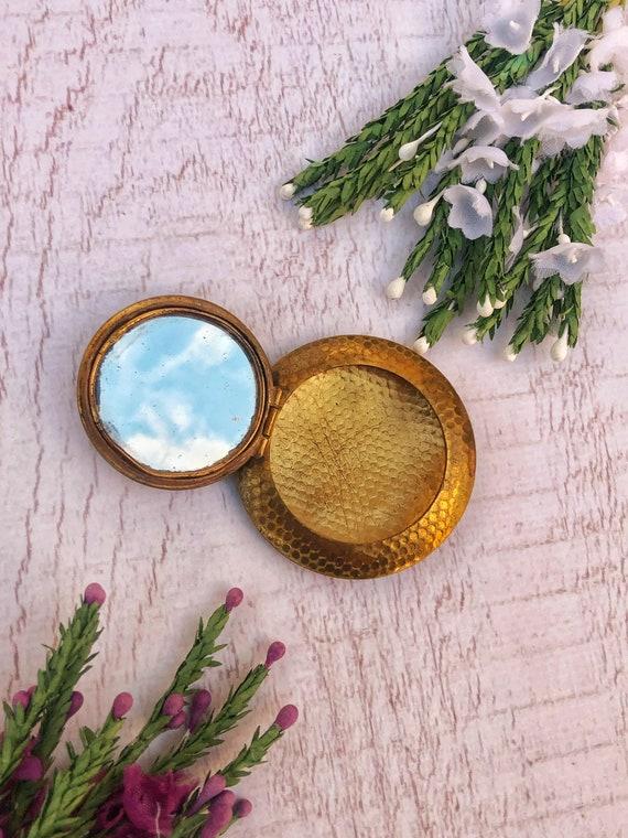 Vintage Compact Mirror Locket