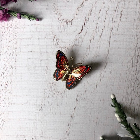 Sparkly Vintage Butterfly Brooch.