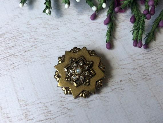 Vintage Victorian Style Brooch, Star Brooch.