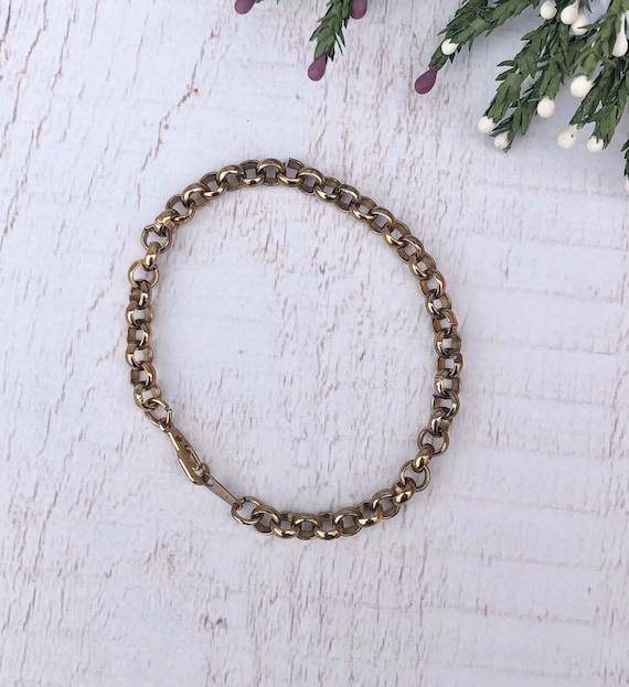 Vintage Belcher Chain Bracelet.