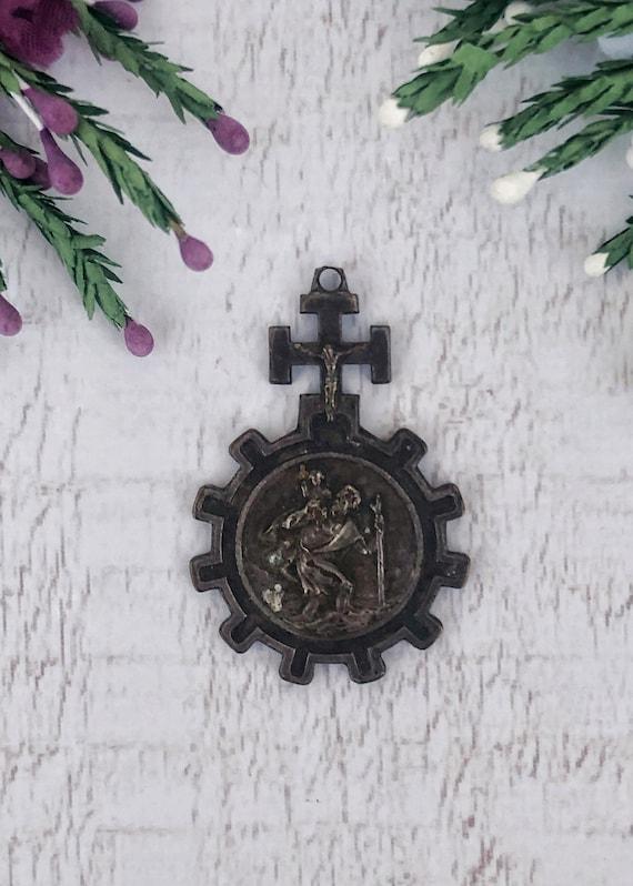 Antique St Christopher Pendant