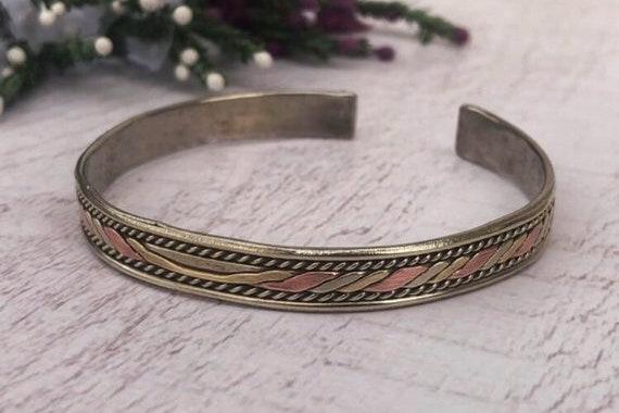Vintage Metal Cuff Bracelet.