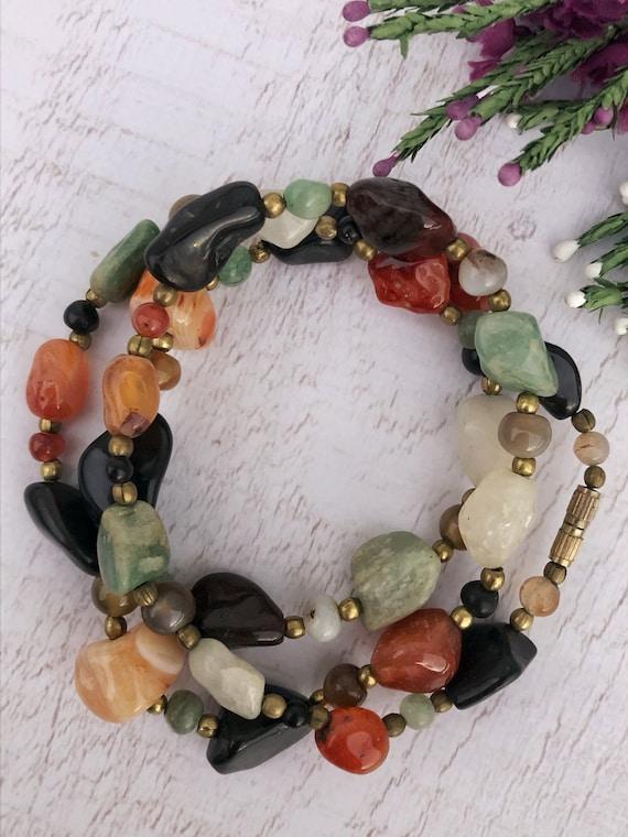 Colourful Vintage Scottish Gemstone Necklace.