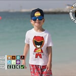 Red Ranger DIno Charge Kids T-shirt Design for HTV, Svg, Png, Pdf for silhouettte cricut HTV Power Ranger