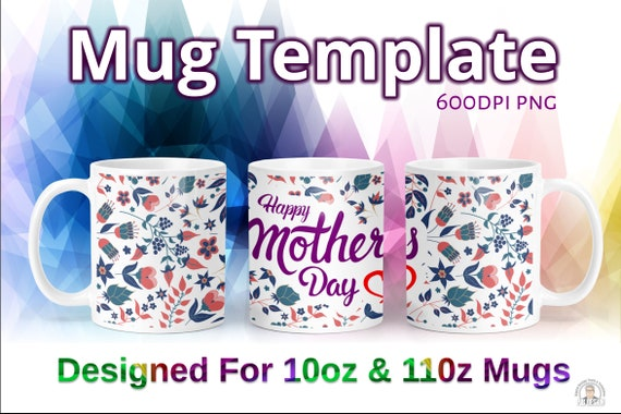 mothers day floral background with text plaque 600dpi png etsy mothers day floral background with text plaque 600dpi png display mock up included dye sublimation mug design template