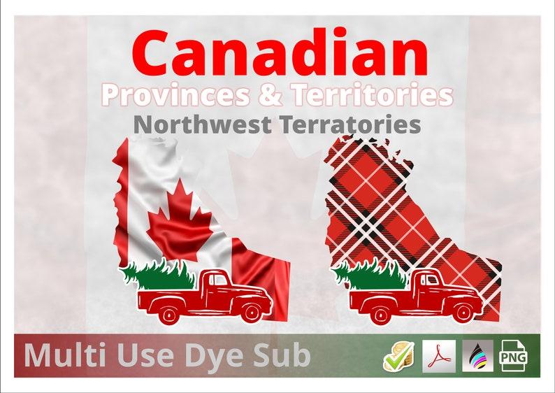 Northwest Territory  Canadian Territory Christmas Plaid Flag image 0