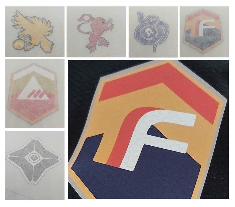 Destiny Iron on Badge Digital Printed HTV  Destiny Faction image 0