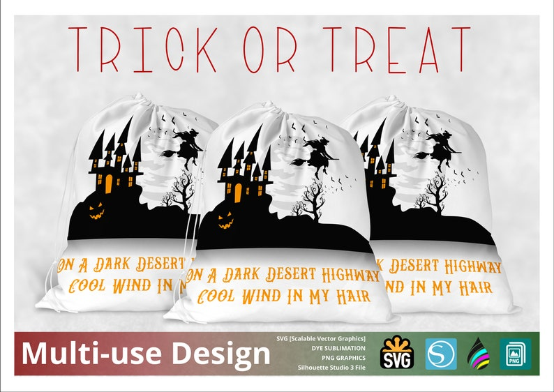 Halloween Trick or Treat Sack  Candy Bag  300PNG  and PNG image 0