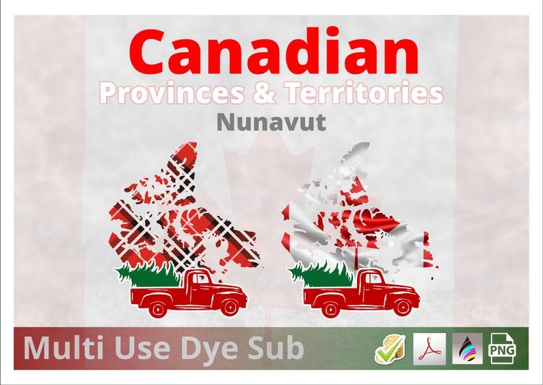 Nunavut Territory  Canadian Territory Christmas Plaid Flag 2 image 0