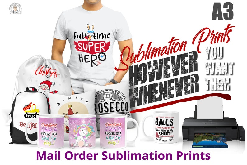 A3 Heat Transfers Pre-Printed Sublimation Decals Ready to Use image 0