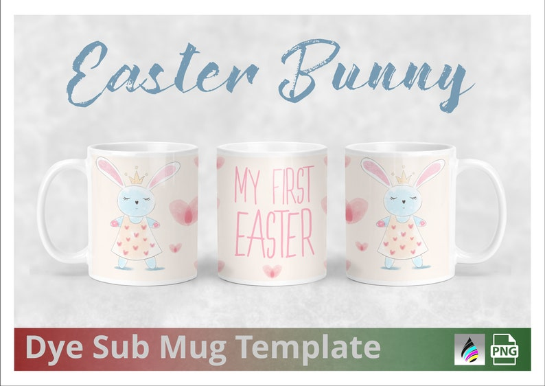 My First Easter  Pink Mug Design Templates for Dye image 0