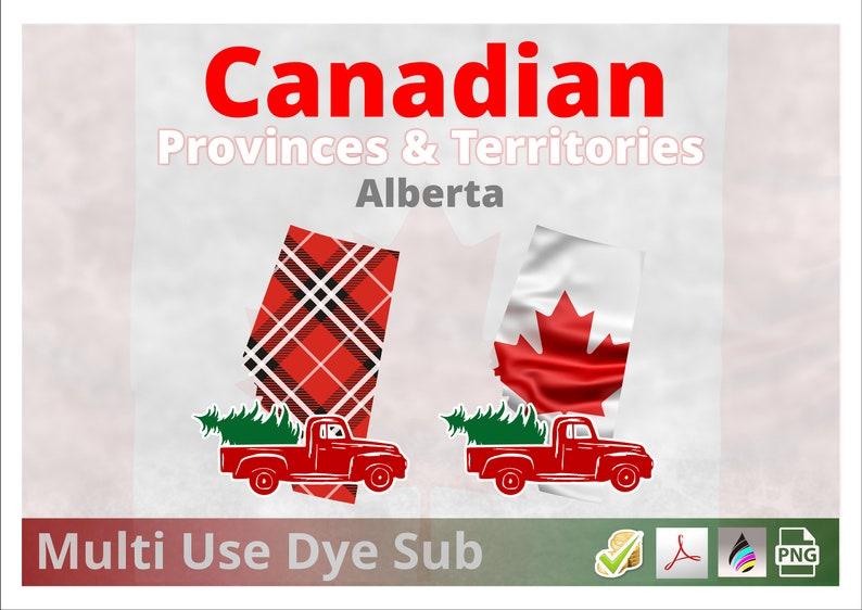 Alberta  Canadian Provinces Christmas Plaid Flag 2 Designs image 0