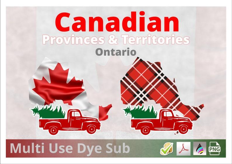 Ontario  Canadian Provinces Christmas Plaid Flag 2 Designs image 0