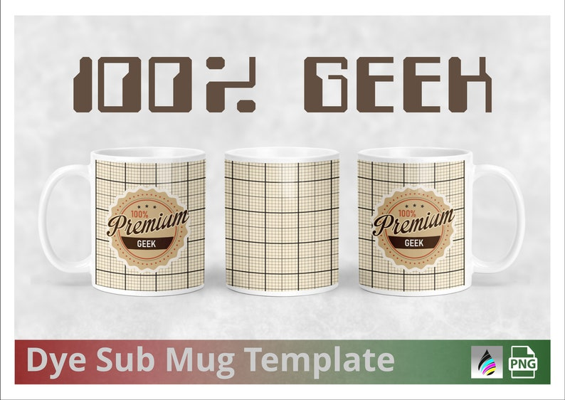 100%  PC Geek  Adult Humor  Dye Sublimation Mug Template   image 0
