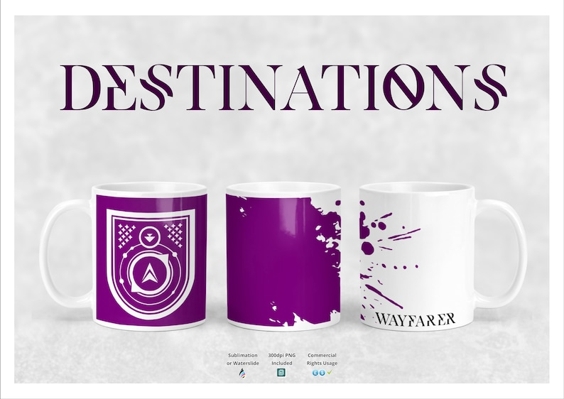 Destiny 2 Destinations Seal Mug Template - Hunter, Warlock, Titan, Dye  Sublimation Mug Design, Mug Template 10oz 11oz Mug Wayfarer Triumph