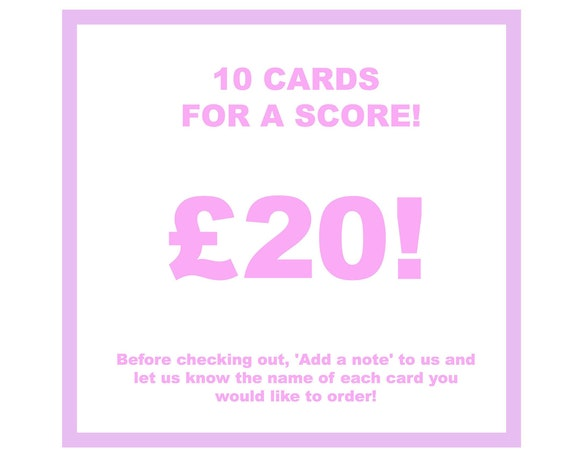 10 cards for a Score!