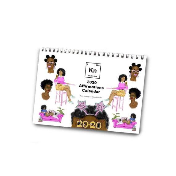A4 Desk Calendar 2020