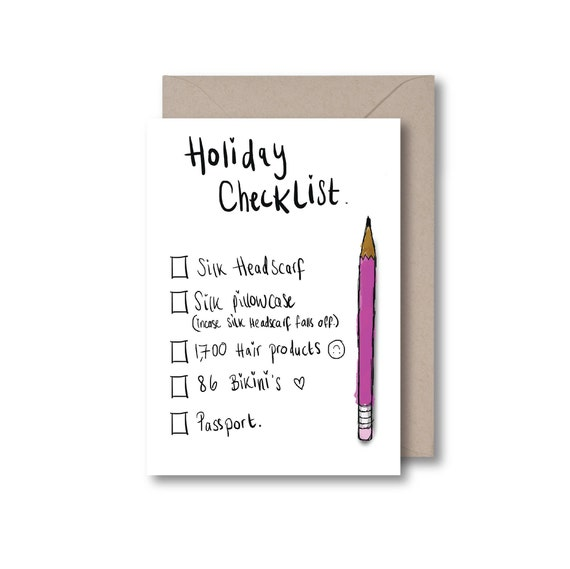 Holiday/Honeymoon Checklist