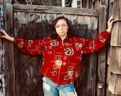 Vintage Retro Clothing- Vintage Streetwear- Cool Styles- Vintage Clothing- vintage windbreaker- Vintage Red Windbreaker Size M