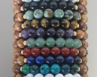 New Year's Resolution/Goal/Chakra Stretch Bracelets - Unisex 8mm