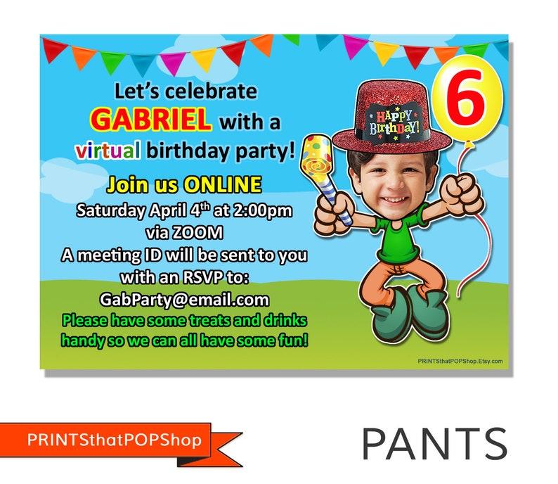 Virtual Party Invitation, online party invitation (printsthatpopshop)