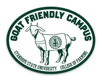 Goat Friendly Campus Sticker - College of Farming