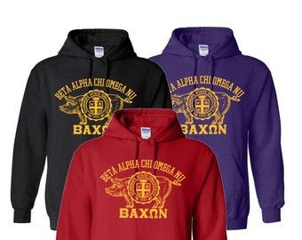 Bacon Fraternity/Sorority Hooded Sweatshirt - Campus Greek Life